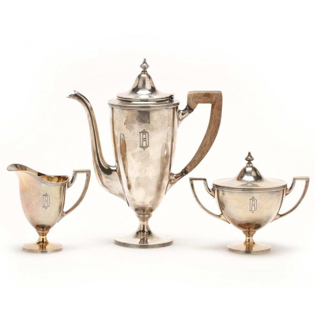 A Tiffany & Co. Sterling Silver Demitasse Set