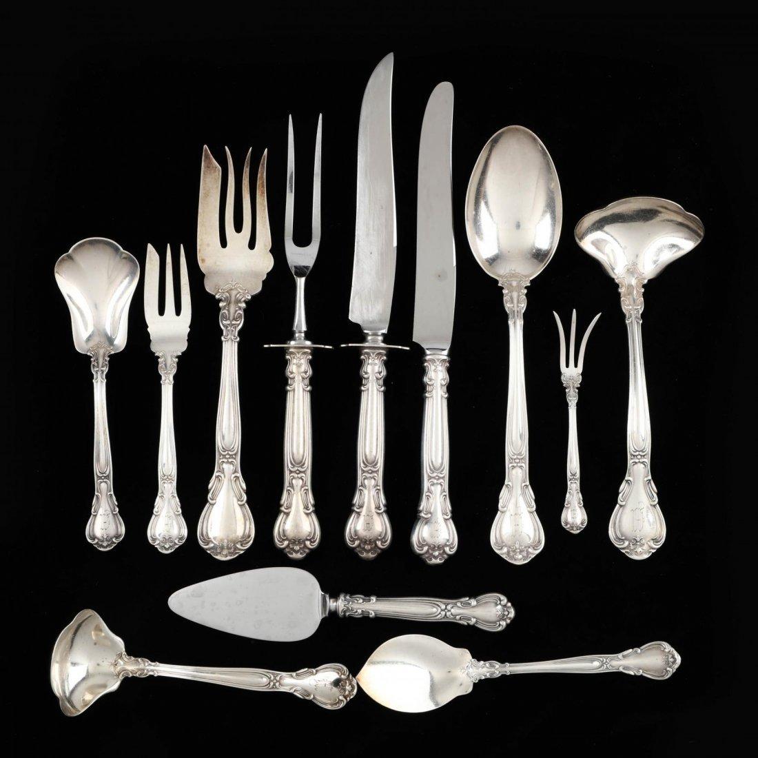 "Gorham ""Chantilly"" Sterling Silver Flatware Set - 4"
