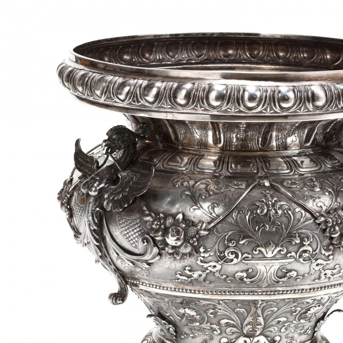 A Palace Size Italian Silver Vase - 2
