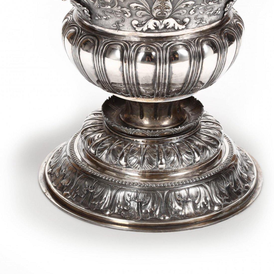 A Palace Size Italian Silver Vase - 3