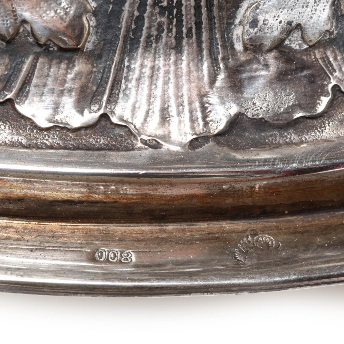 A Palace Size Italian Silver Vase - 6