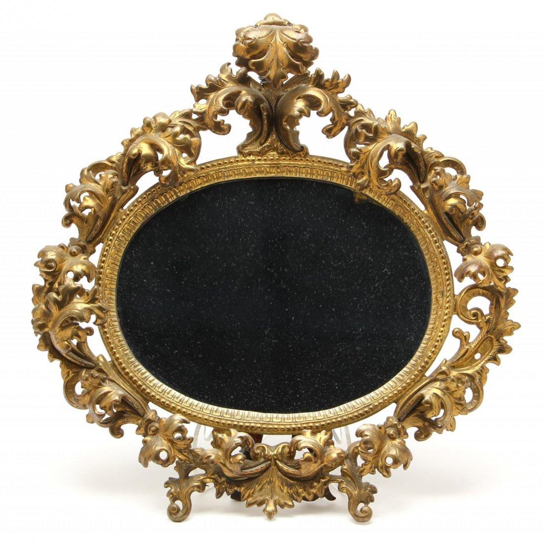 Rococo Style Brass Boudoir Mirror
