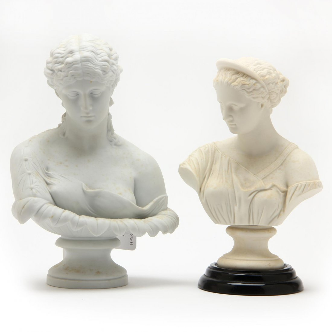 Two Continental Classical Style Busts of Women