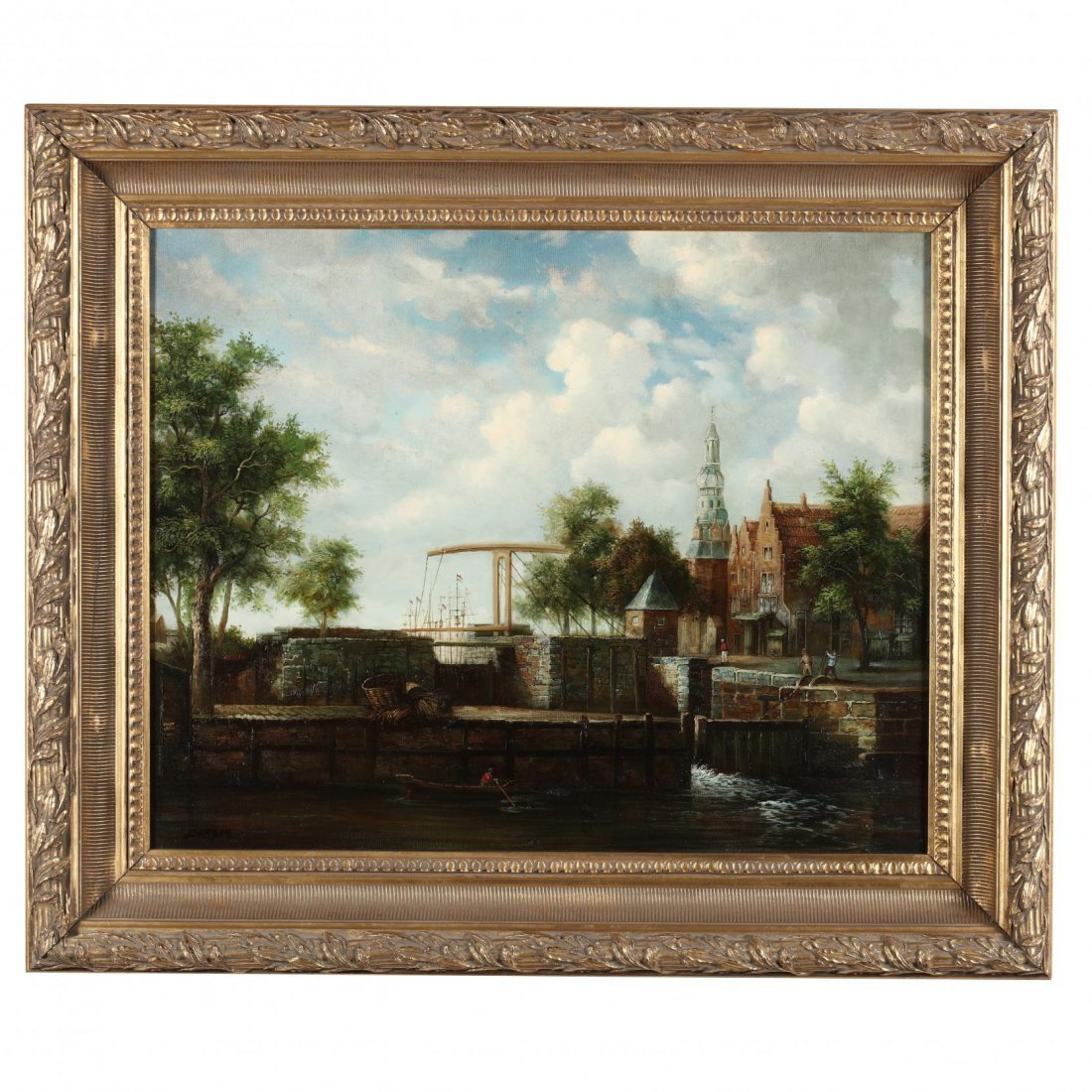 Contemporary Continental Harbor Painting