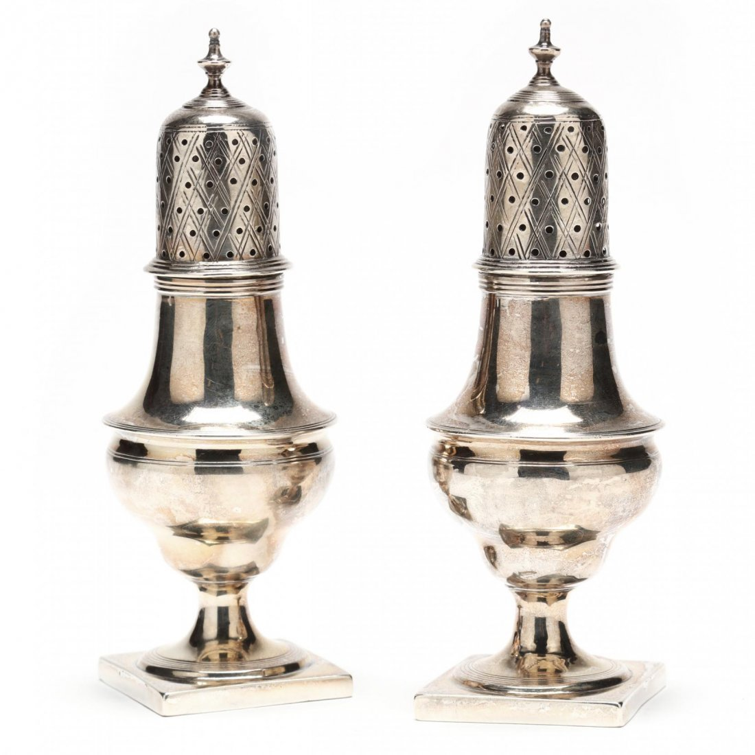 Pair of Georgian Silver Casters