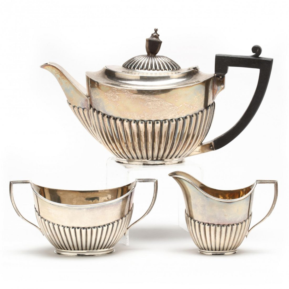 Edwardian Silver Tea Set - 3