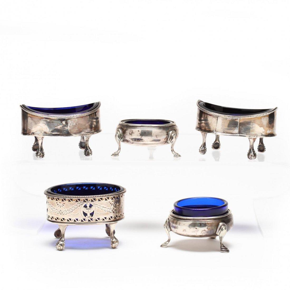Five Georgian Silver Salts - 2