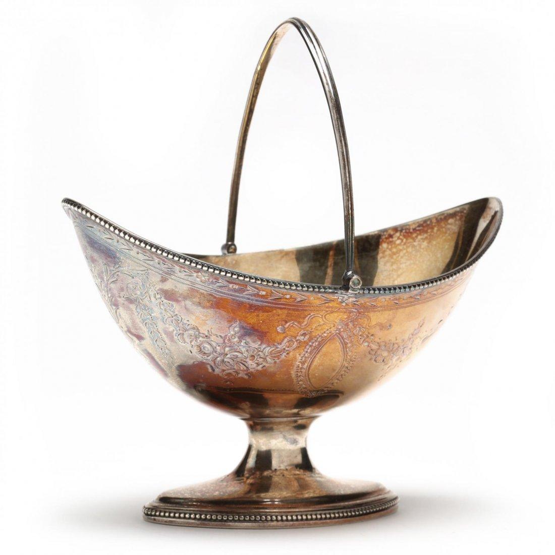 Georgian Silver Sweetmeat Basket