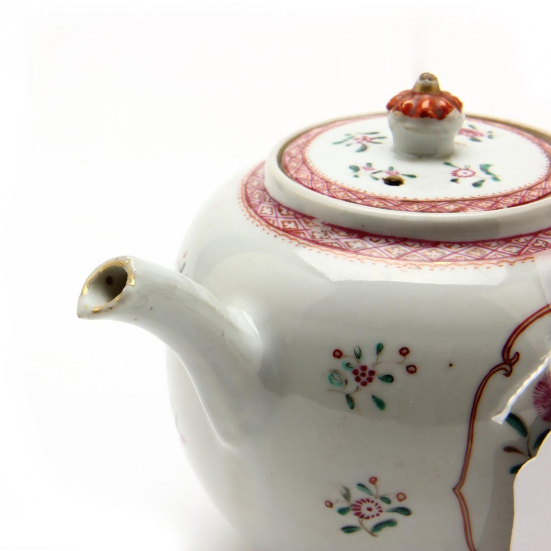 Three Antique Chinese Export Teapots - 5