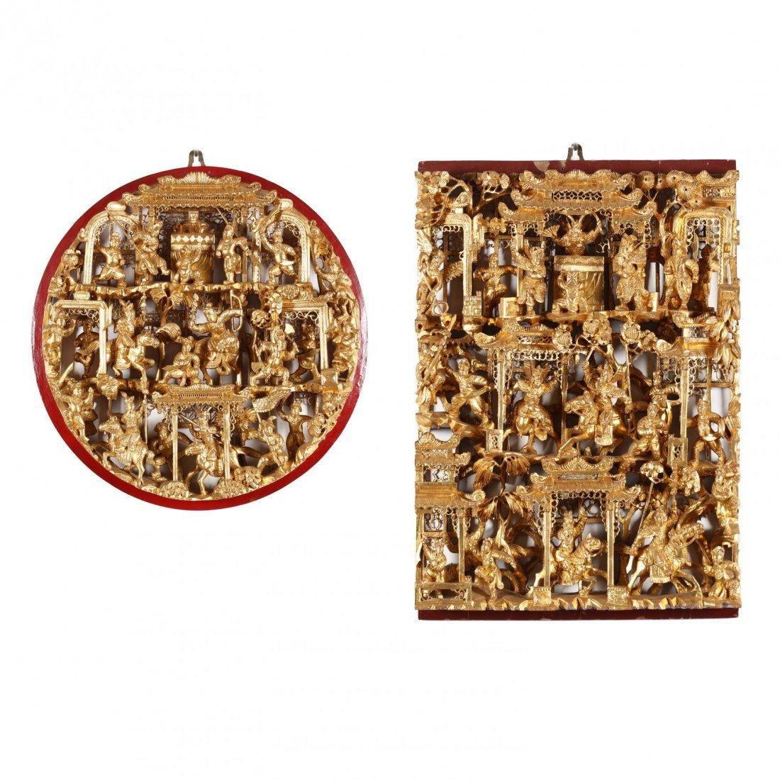 Two Chinese Carved and Reticulated Panels