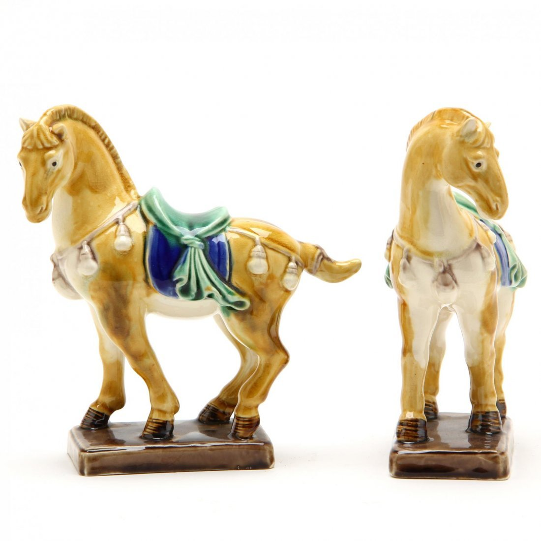 Pair of Diminutive Tang Style Horses
