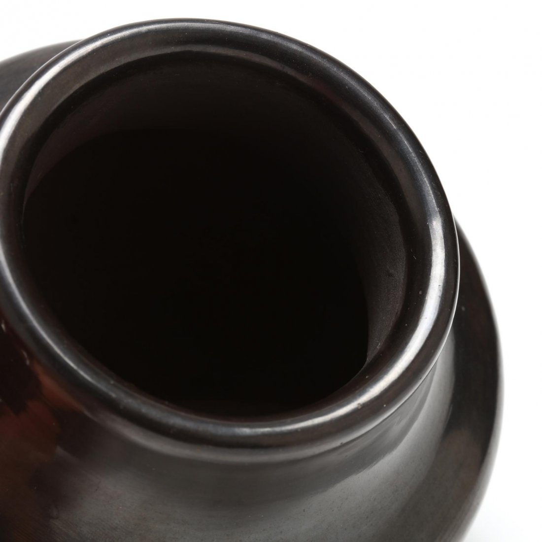 San Ildefonso Blackware Pot by Carlos Sunrise Dunlap - 2