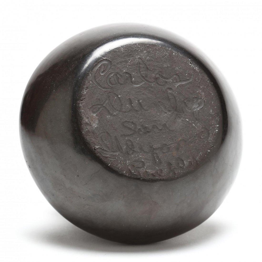 San Ildefonso Blackware Pot by Carlos Sunrise Dunlap - 3
