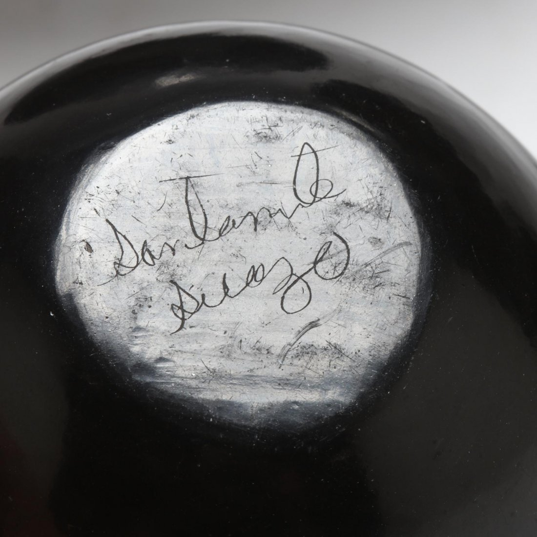 Four Santa Clara Blackware Pieces - 3