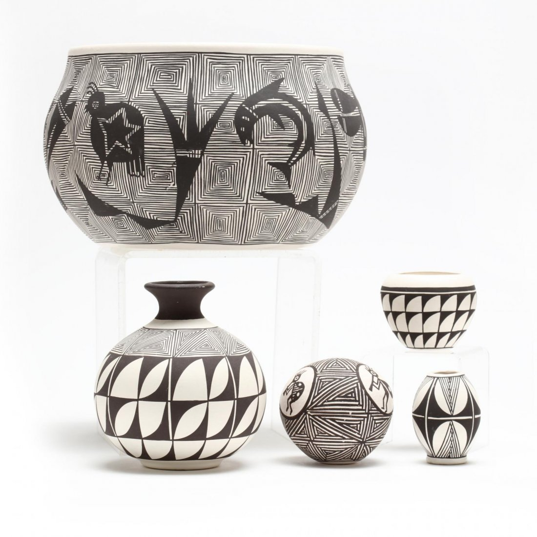Five Acoma Pottery Objects