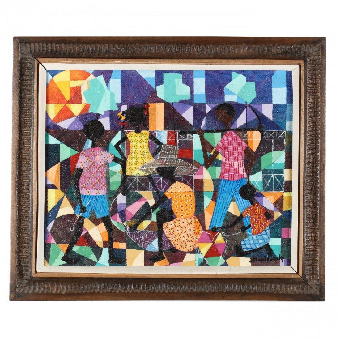 Jean Coach (Haitian, 20th Century), Cubist Style Genre