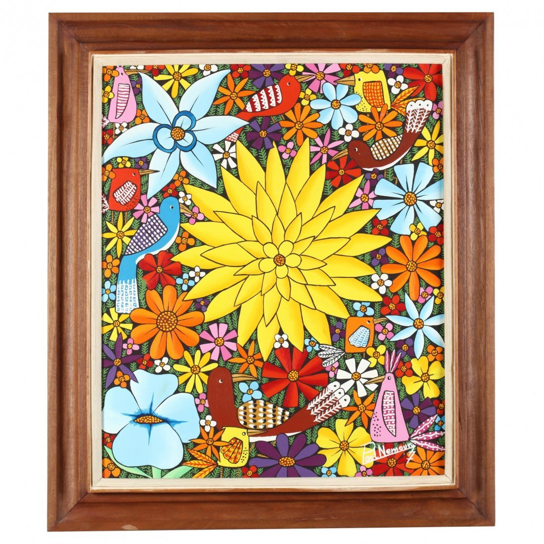 Paul Nemours (Haitian, 20th Century) Bright Flowers and