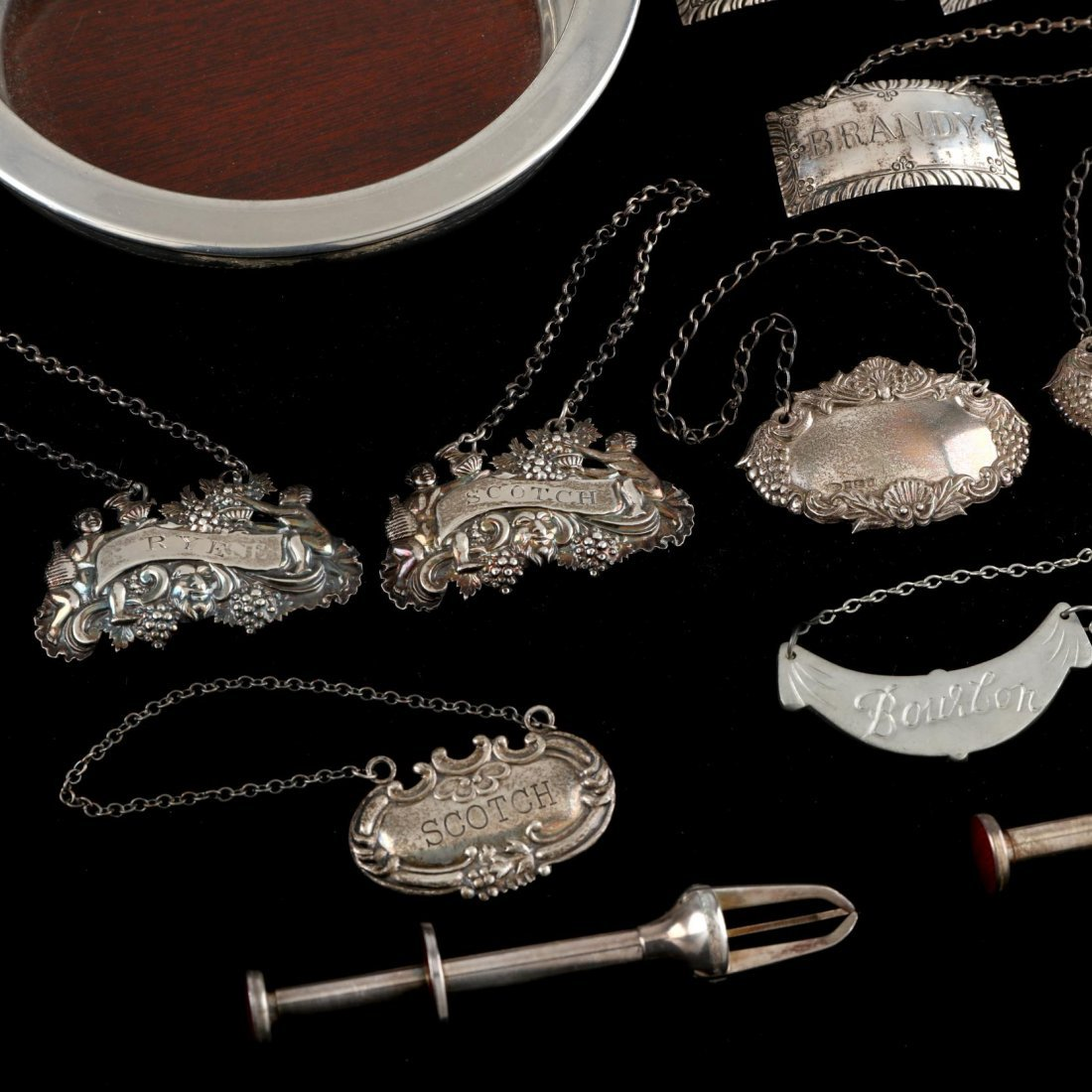 Group of Silver and Pewter Bar Accessories - 2