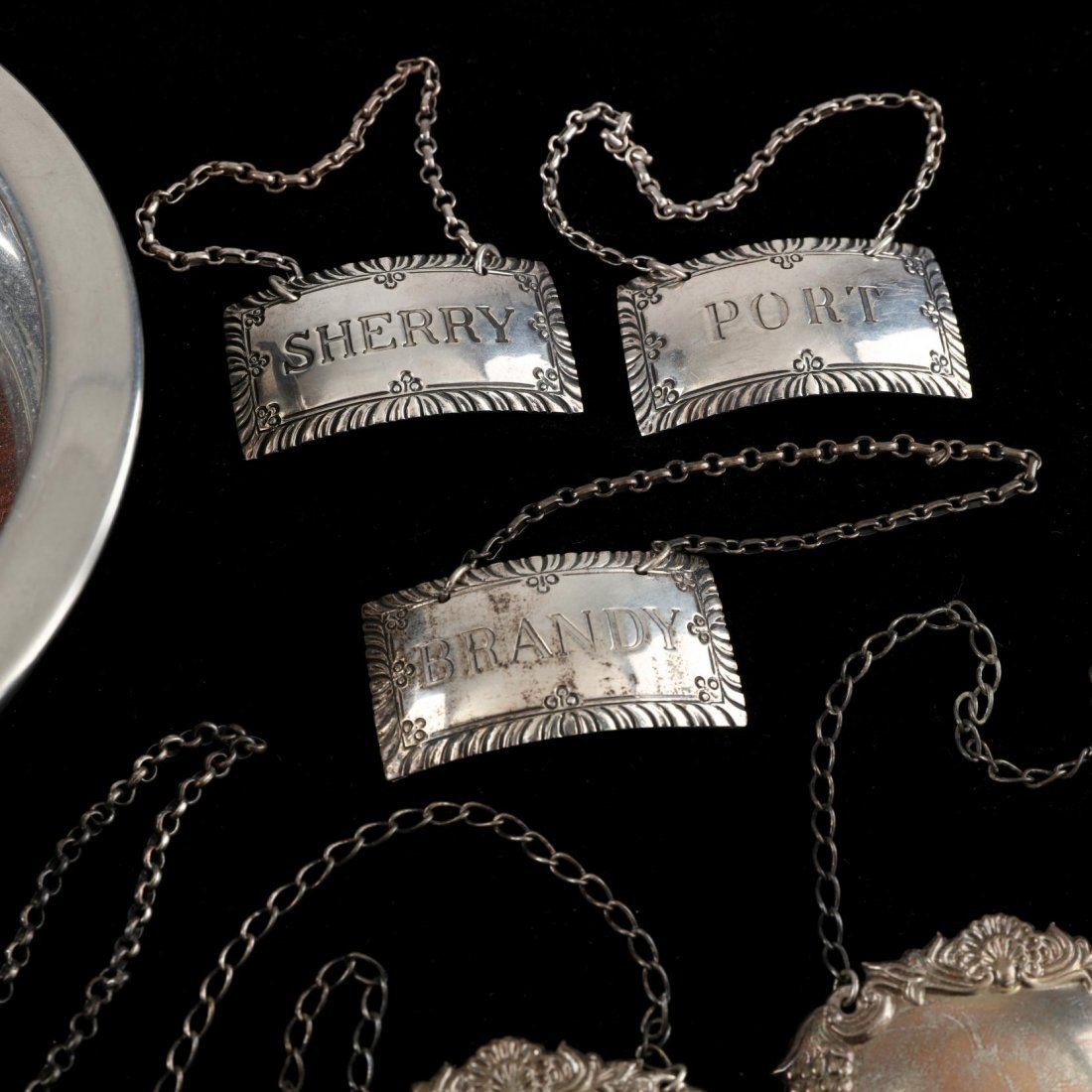 Group of Silver and Pewter Bar Accessories - 3
