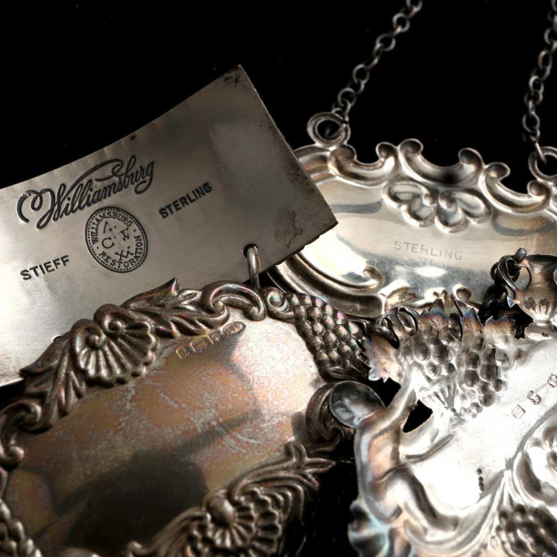 Group of Silver and Pewter Bar Accessories - 5