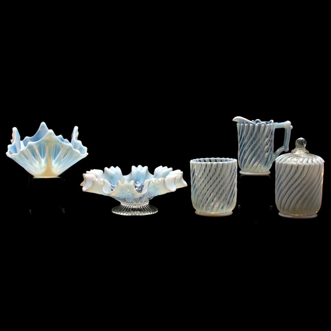 Group of Victorian Opalescent Glass