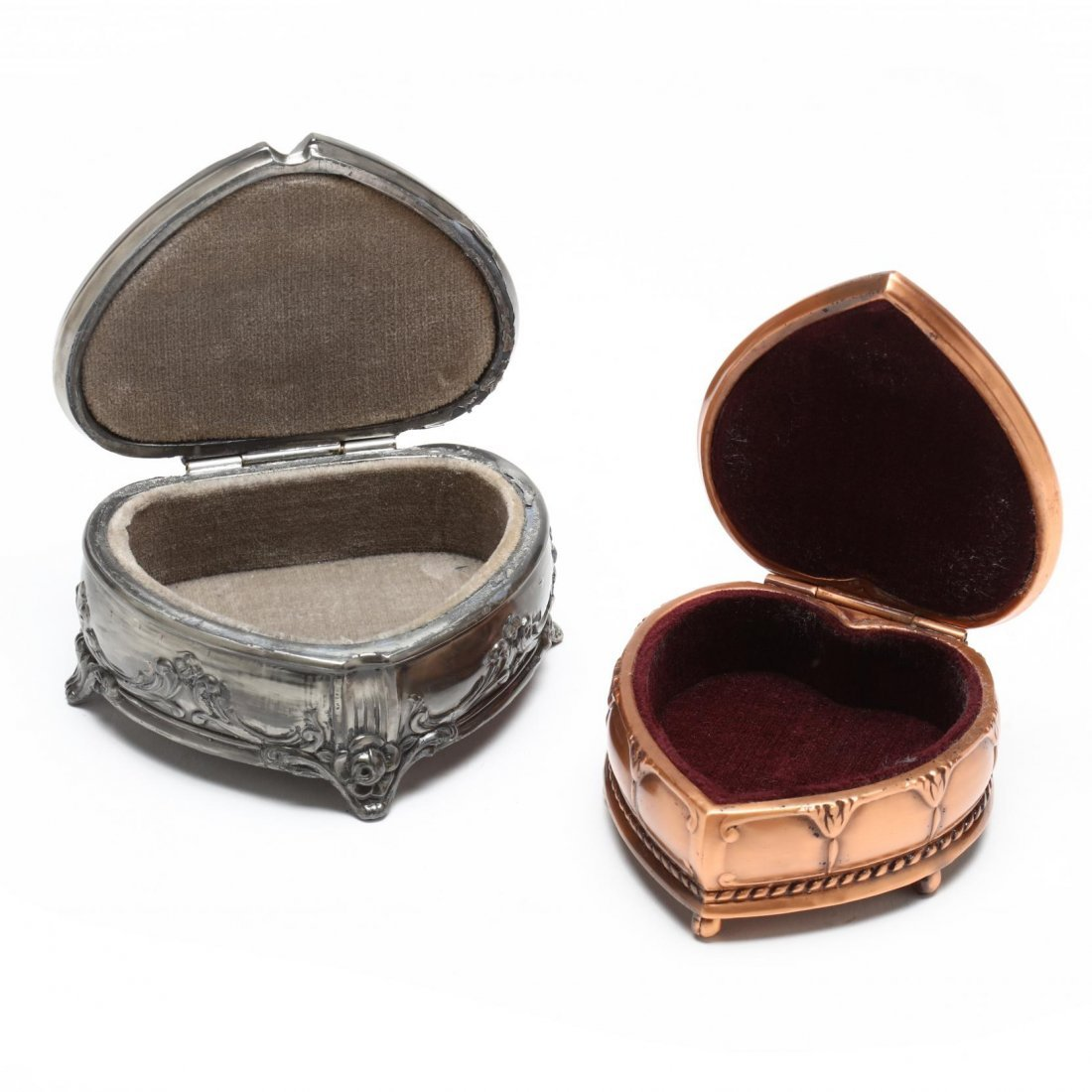 Two Jennings Brothers Heart Shaped Jewelry Boxes - 2