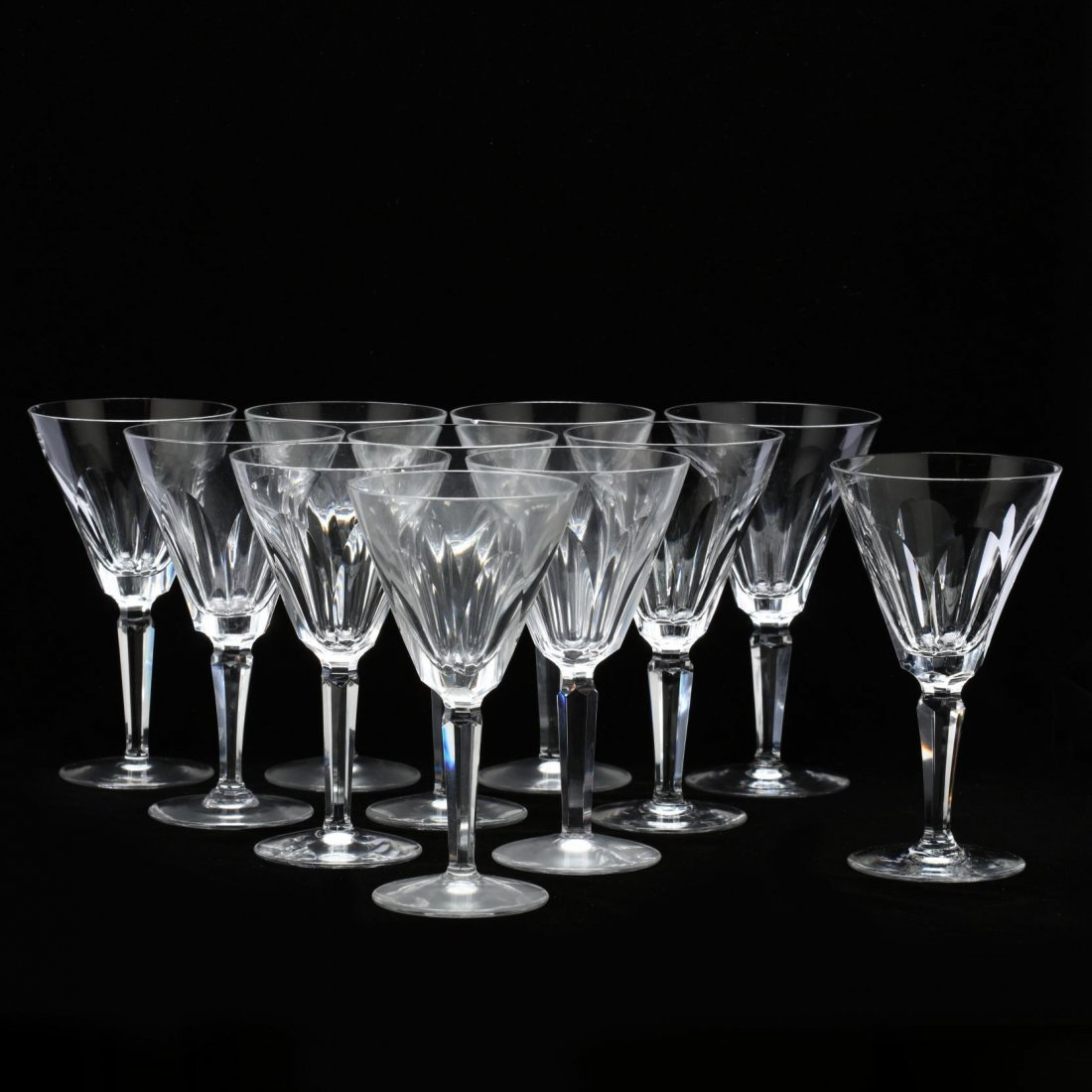 Waterford Crystal, Set of Eleven Water Goblets