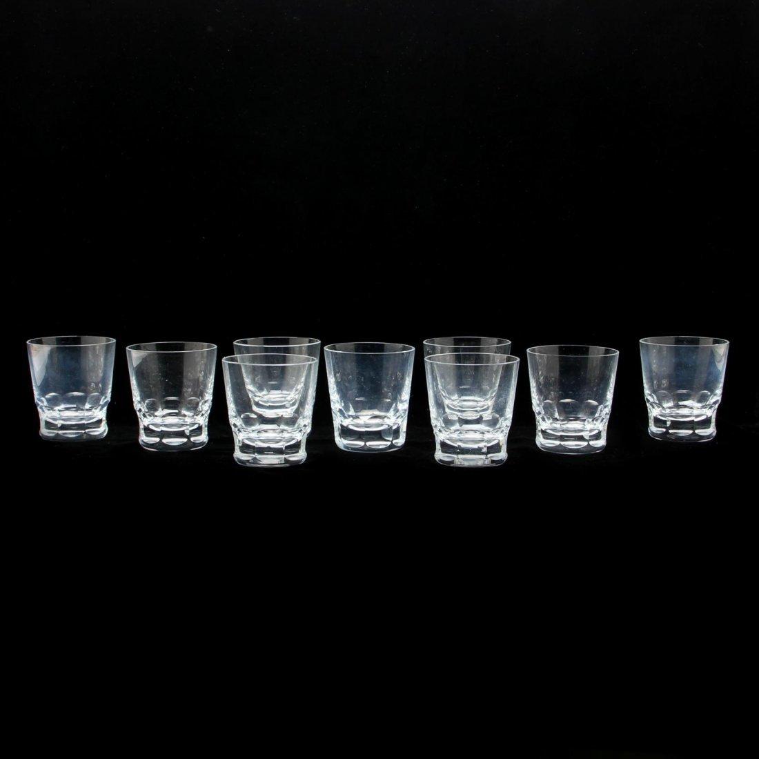 Set of Nine Baccarat Glass Tumblers