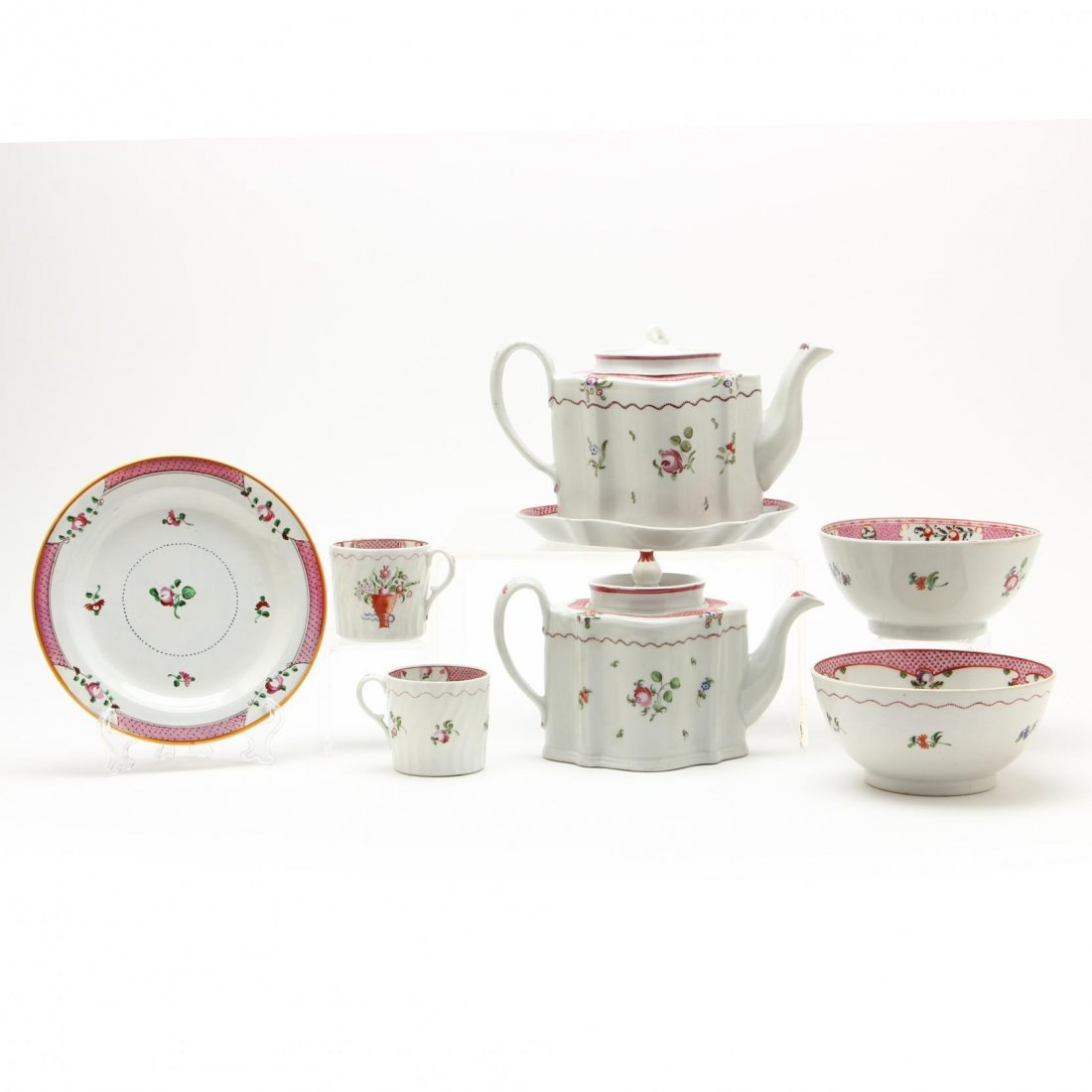 Group of Early New Hall Porcelain