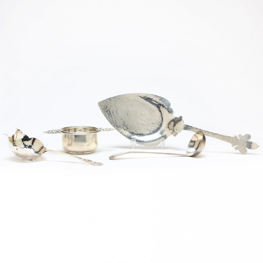 Four Sterling Silver Tea Accoutrements
