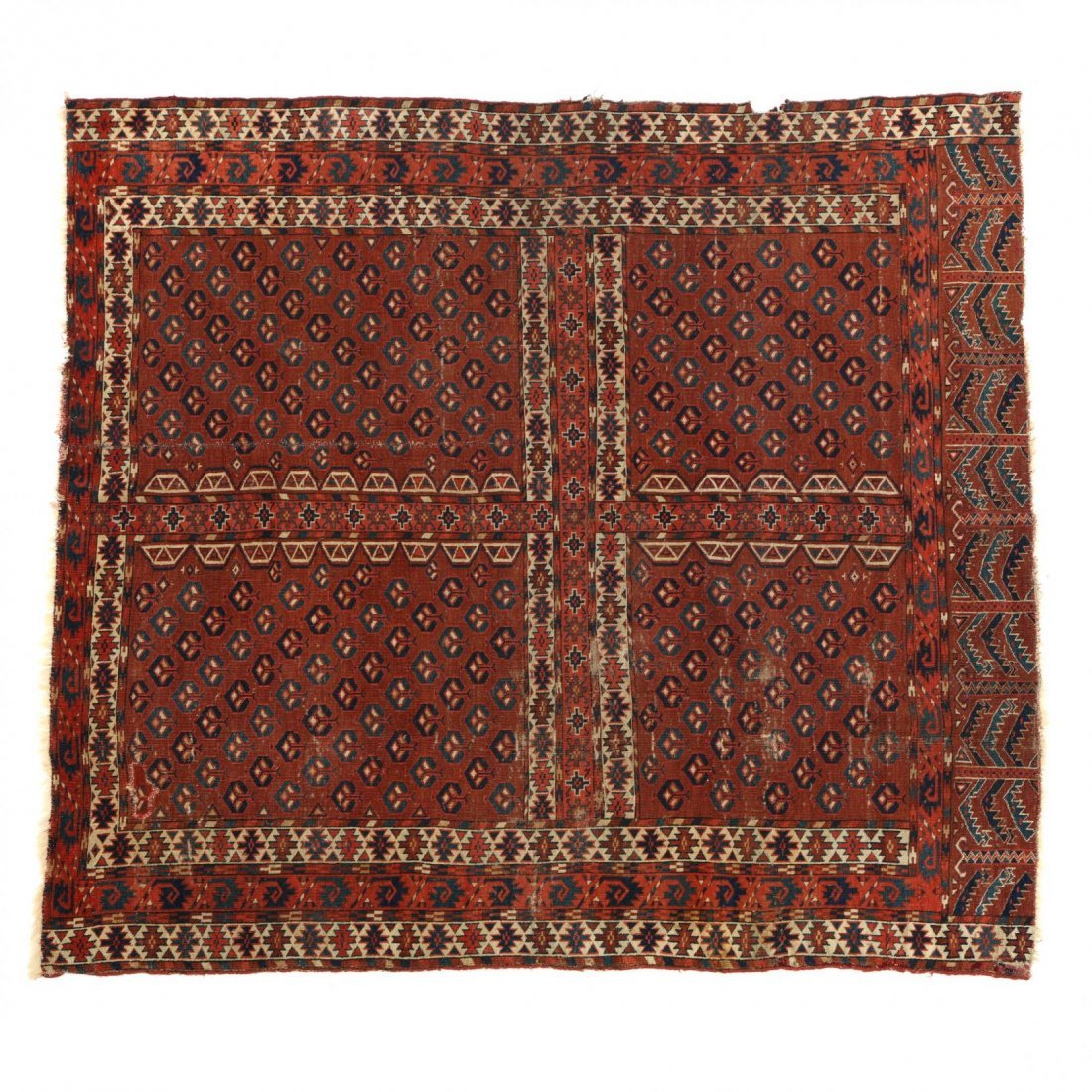 Semi Antique Turkoman Yomut Rug