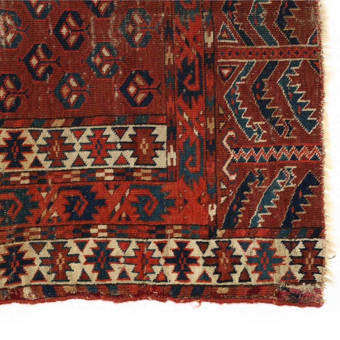 Semi Antique Turkoman Yomut Rug - 2