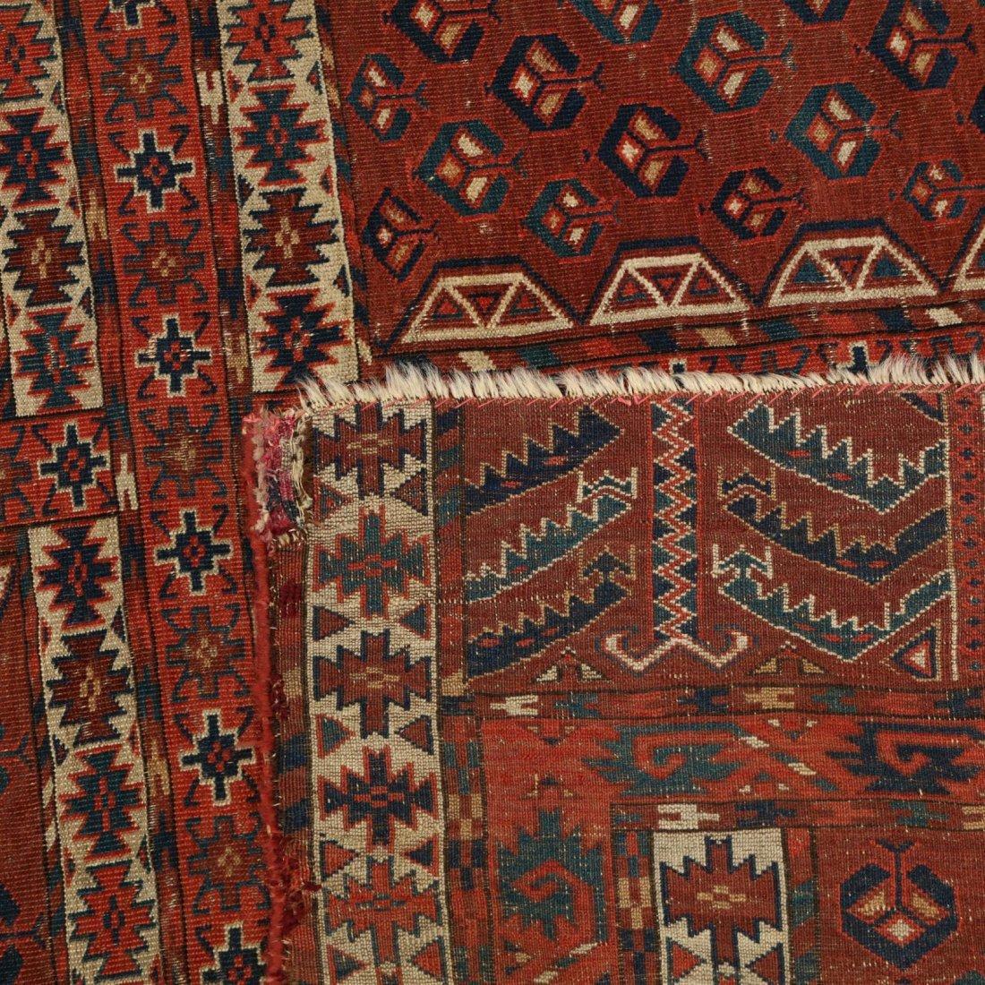 Semi Antique Turkoman Yomut Rug - 3