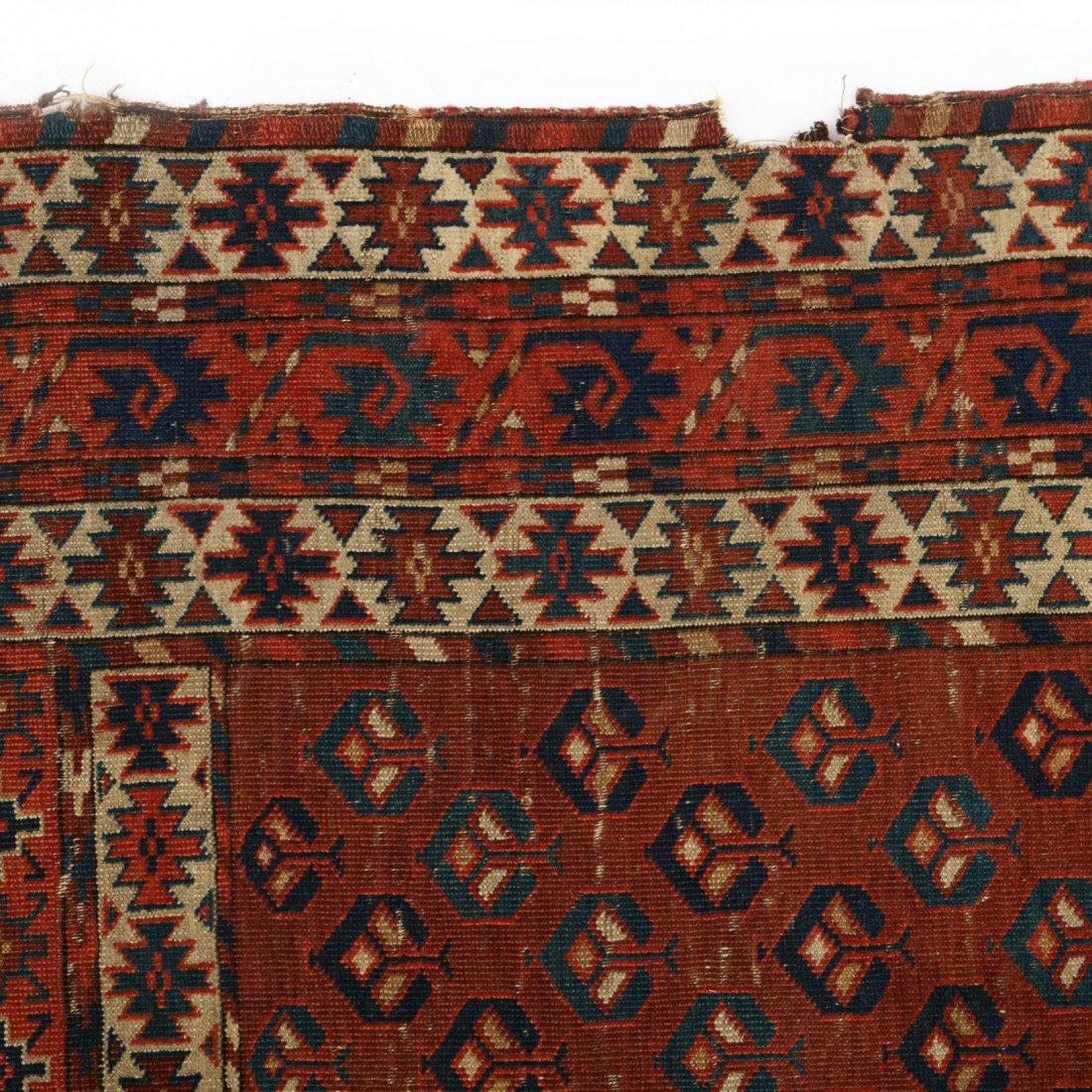 Semi Antique Turkoman Yomut Rug - 4