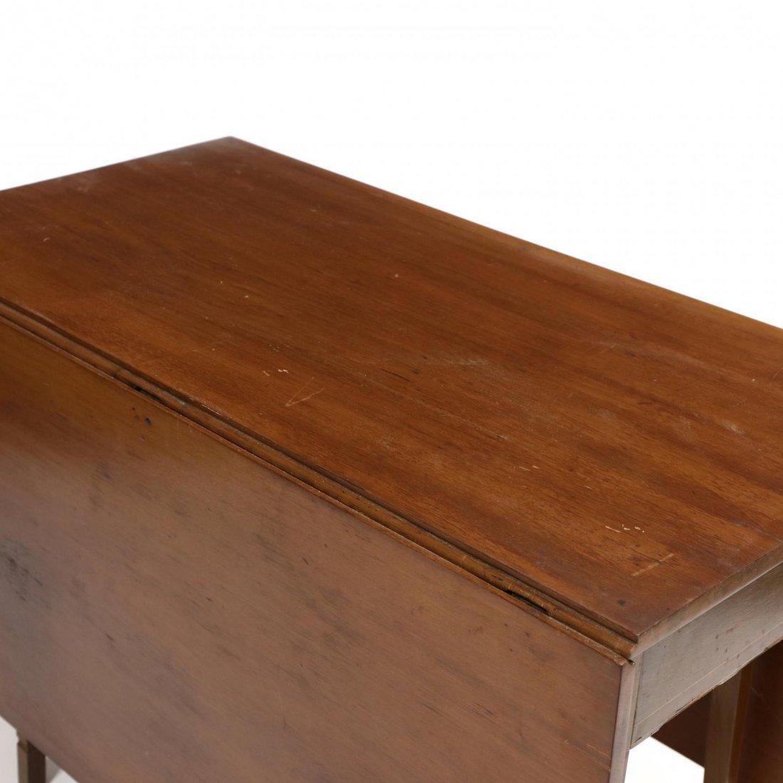 Federal Inlaid Drop Leaf Dining Table - 2