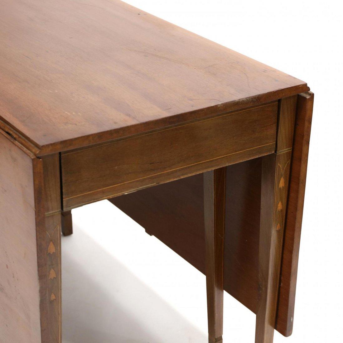 Federal Inlaid Drop Leaf Dining Table - 3