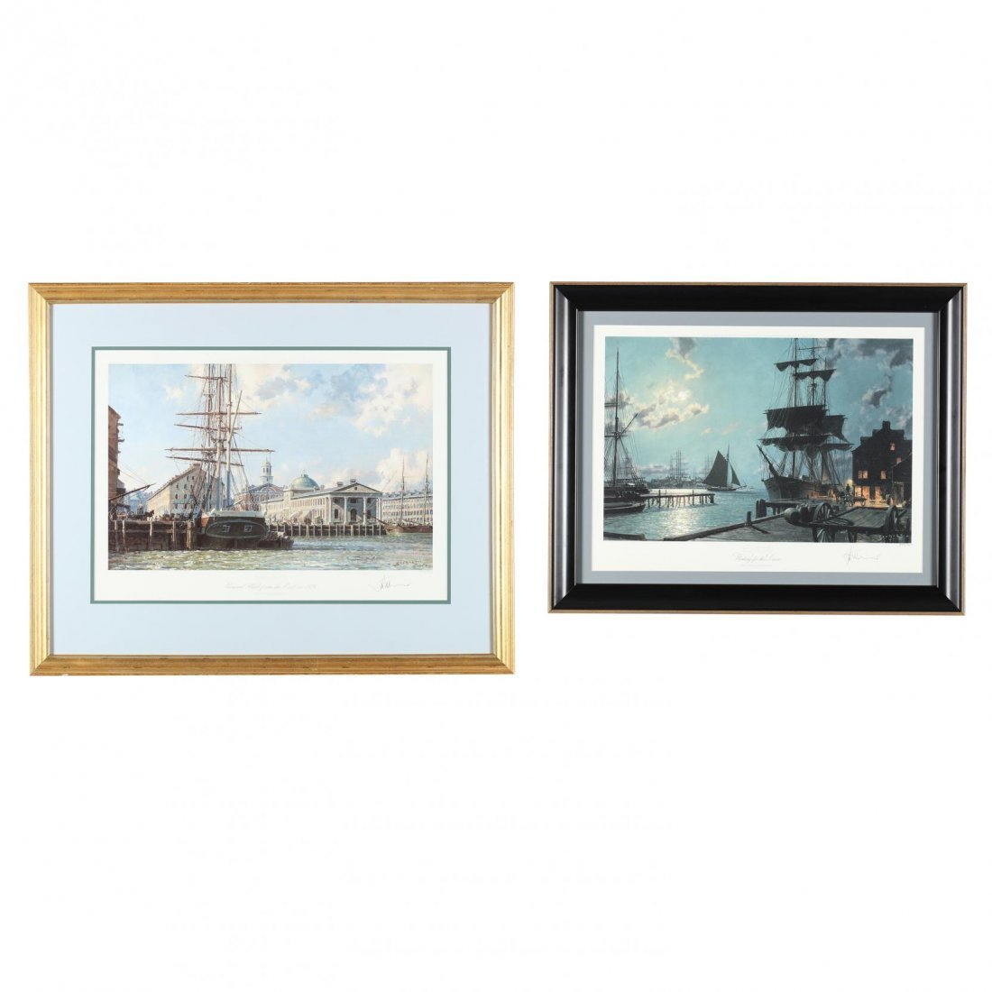 Two Views of Boston after John Stobart (Br./Am., b.