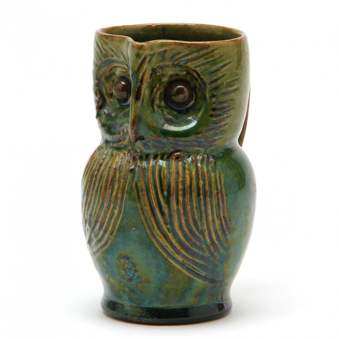 Diminutive Owl Pottery Pitcher