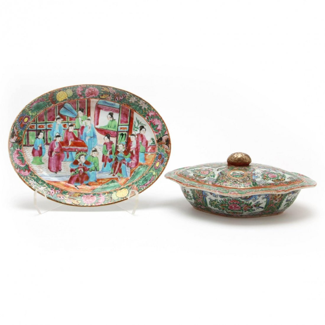 Two 19th Century Chinese Export Porcelain Items