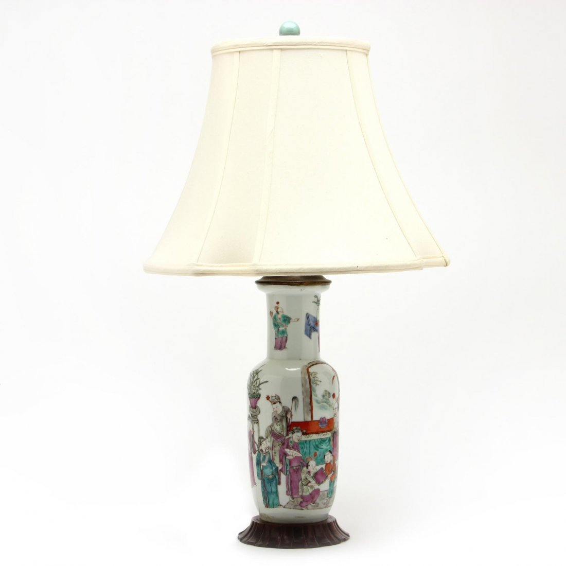Pair of Chinese Export Porcelain Lamps