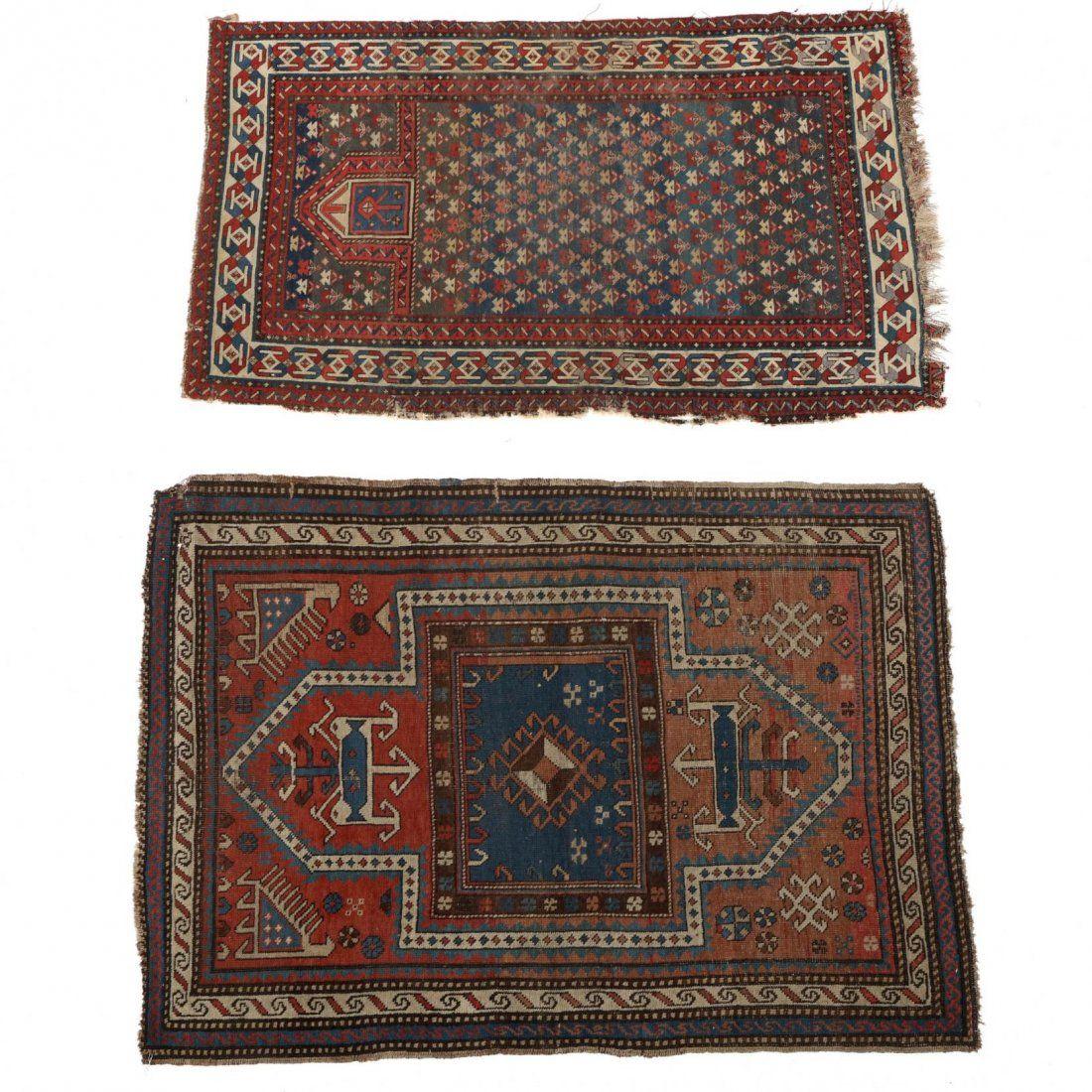 Two Semi Antique Persian Area Rugs