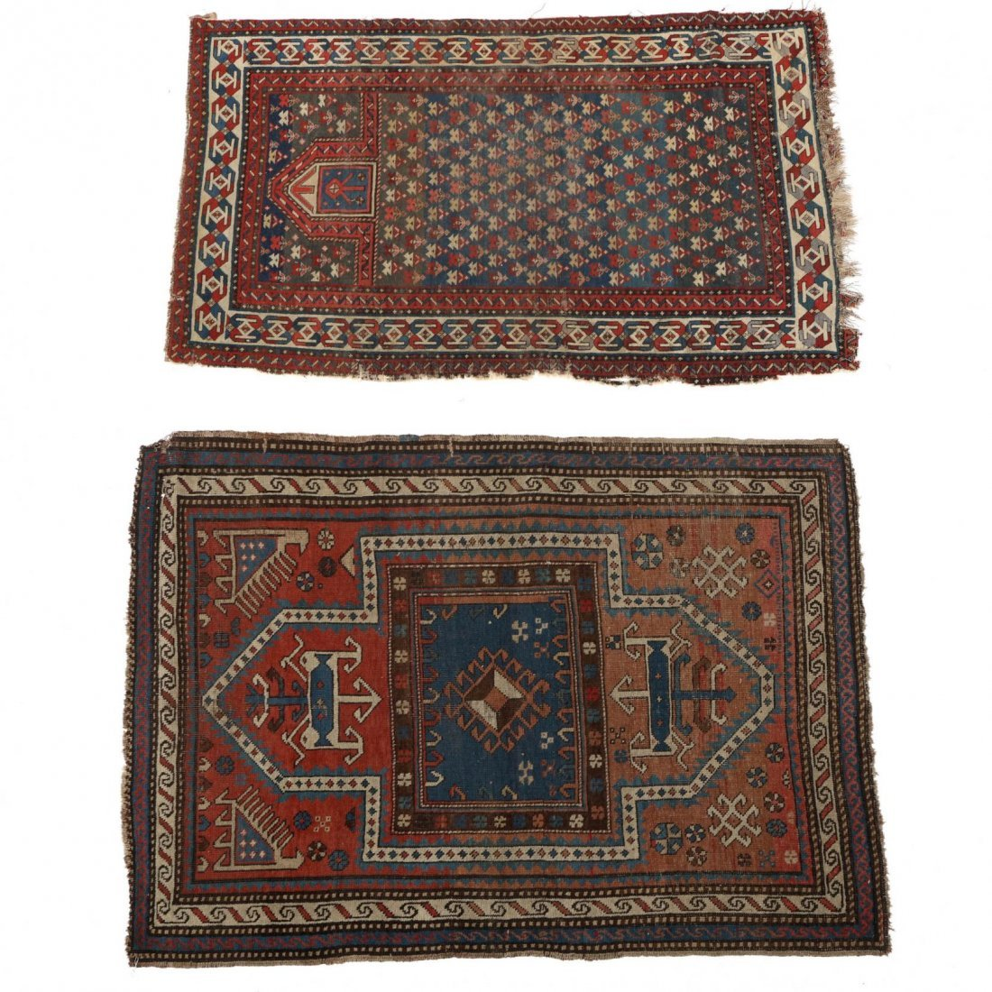 Two Semi Antique Persian Area Rugs