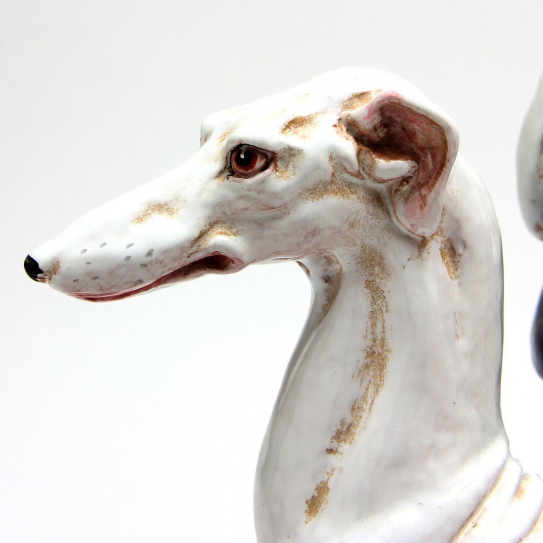 Pair of Italian Majolica Greyhounds - 2