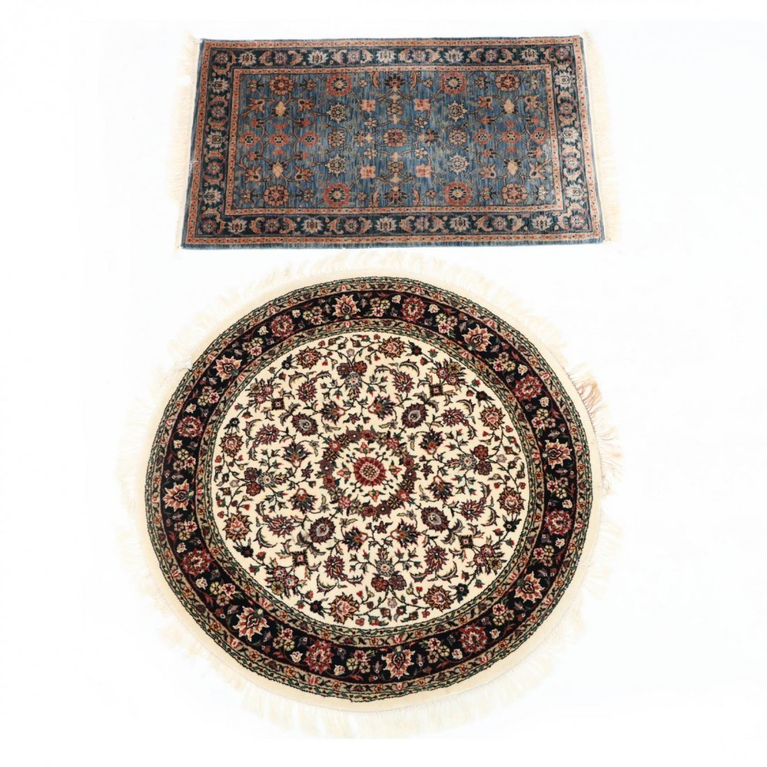 Two Indo Persian Area Rugs