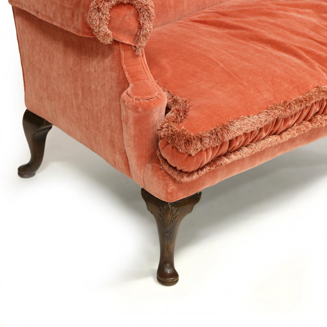 Queen Anne Style Overupholstered Settee - 2