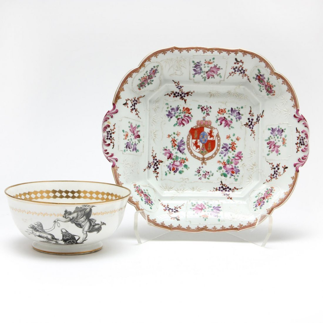Two Antique Porcelain Dishes