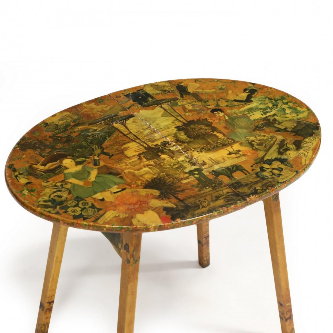 Howe, Vintage Decoupaged Folding Child's Table - 2