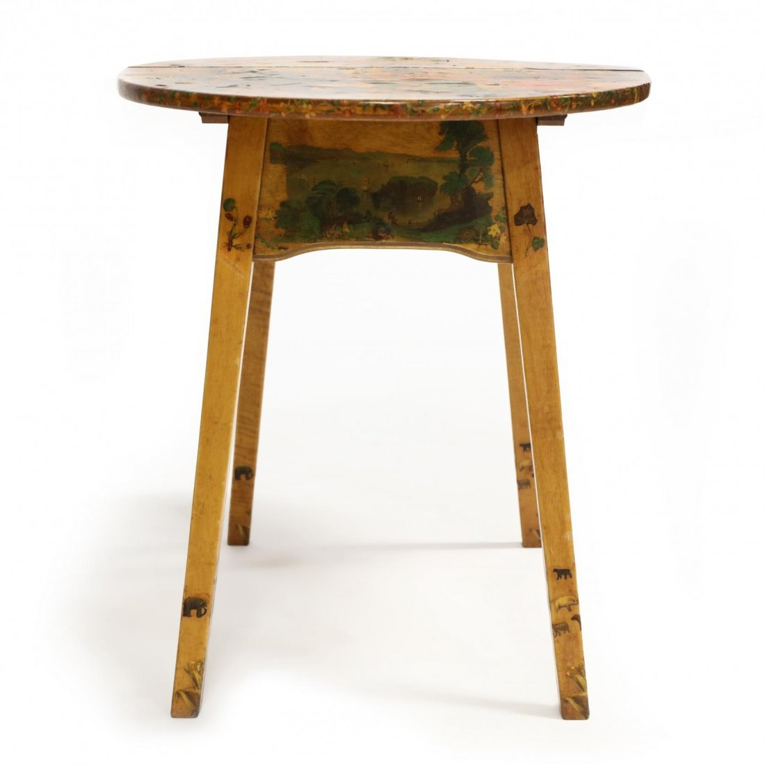 Howe, Vintage Decoupaged Folding Child's Table - 3