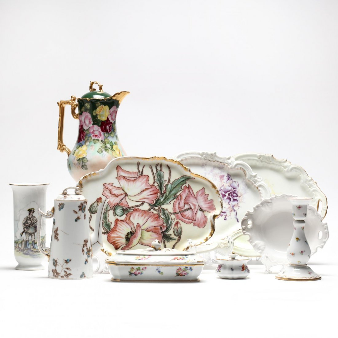 (10 Pcs) Continental Porcelain Group
