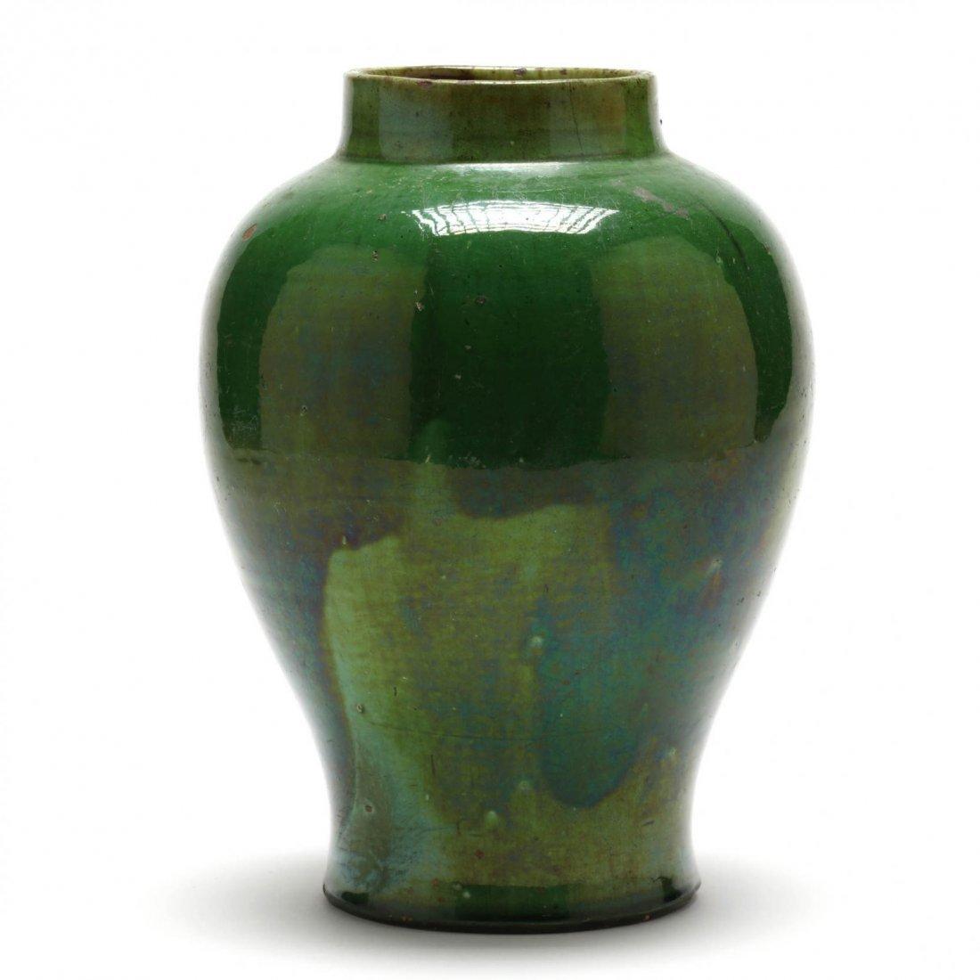 Elegant Green Pottery Vase